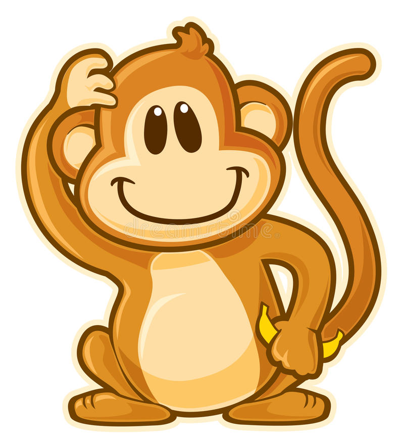 Monkey. Vector without gradients, great for printing