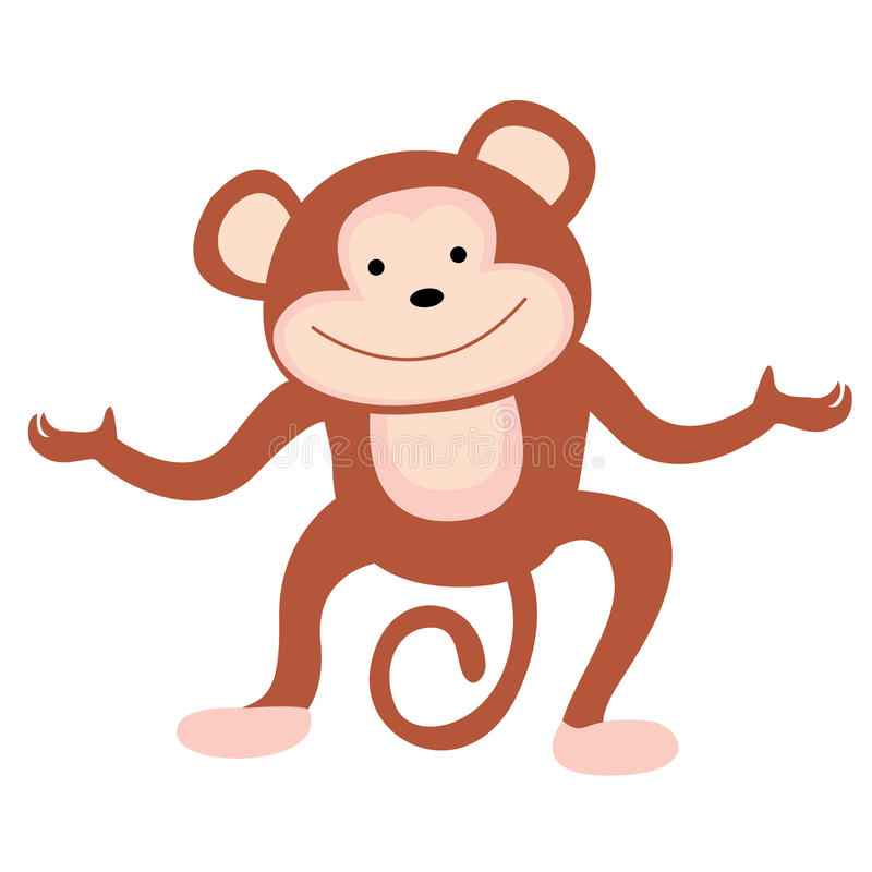 Download Monkey stock vector. Image of climb, illustrations, color - 14692405