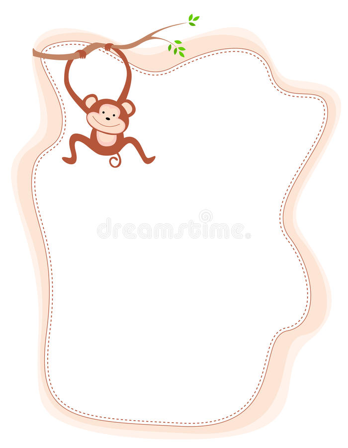 Download Monkey stock vector. Image of clip, artwork, empty, card - 21630659