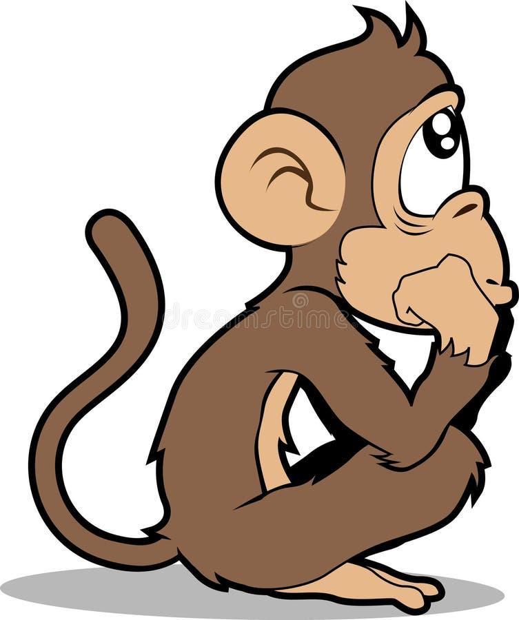 Monkey royalty free illustration