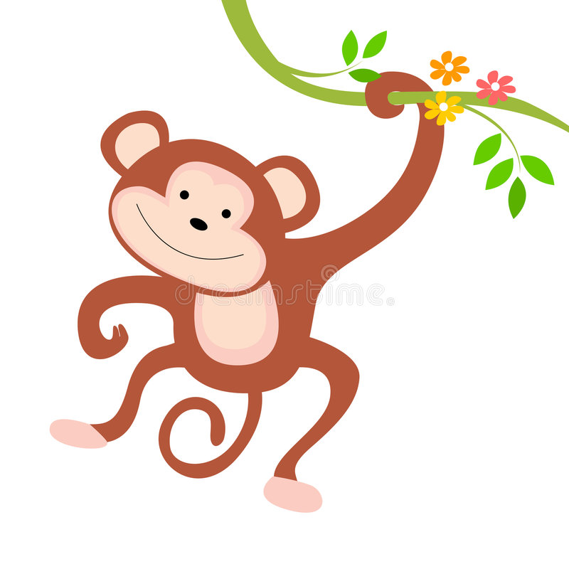 Download Monkey stock vector. Illustration of clip, brown, anthropoid - 8437677