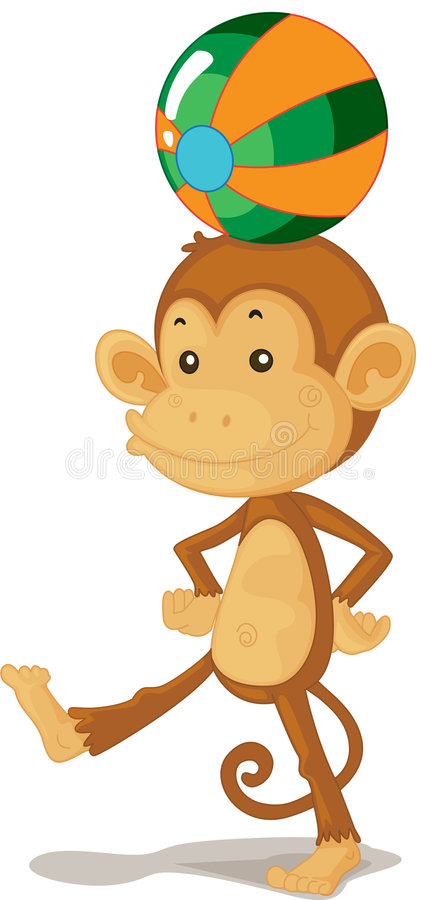 Download Monkey stock illustration. Illustration of graphic, colourful - 8795899