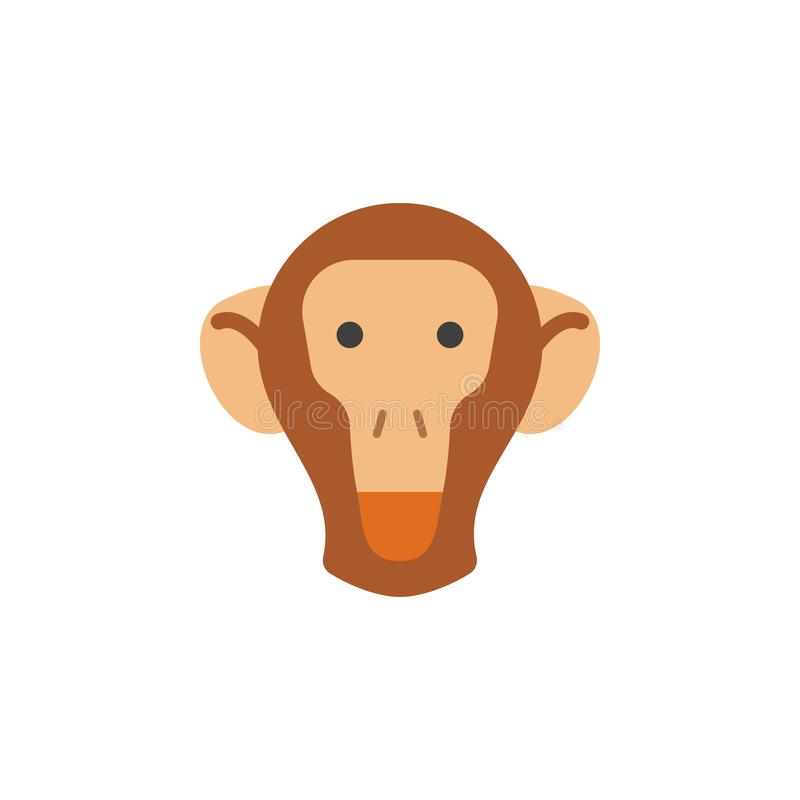 Monkey, animal, nature icon. Element of color African safari icon. Premium quality graphic design icon. Signs and symbols. Collection icon for websites, web royalty free illustration