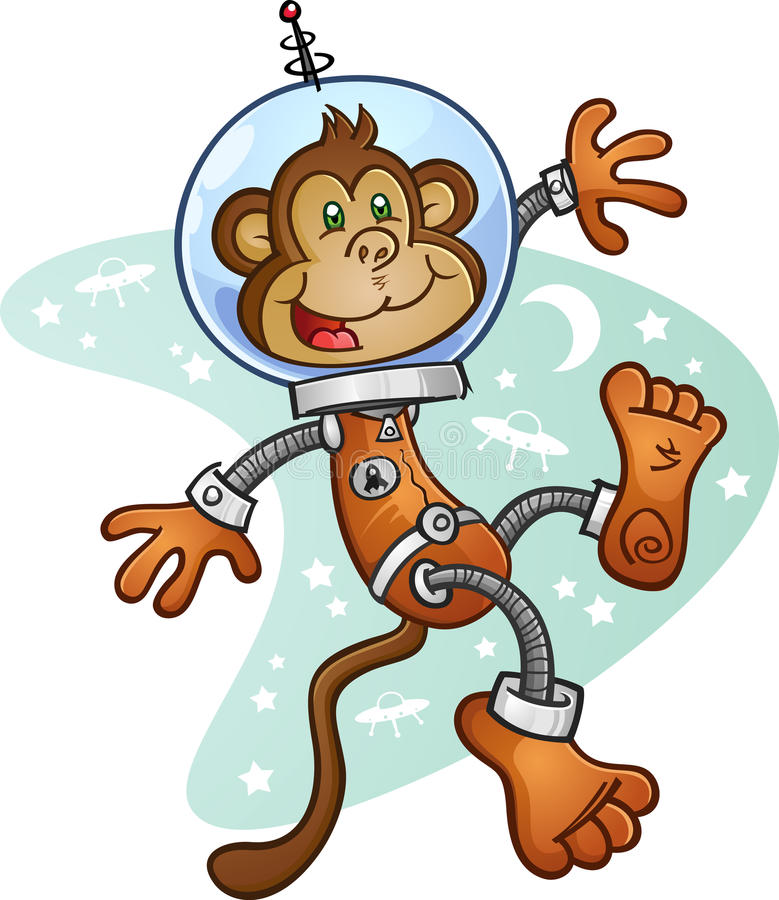 Download Monkey Astronaut Cartoon Character In A Space Suit Stock Photography - Image: 37764102