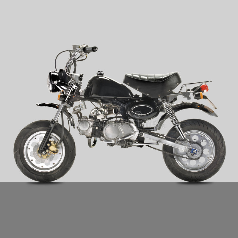 Monkey bike classic. An original monkey bike from the 1970's royalty free stock images
