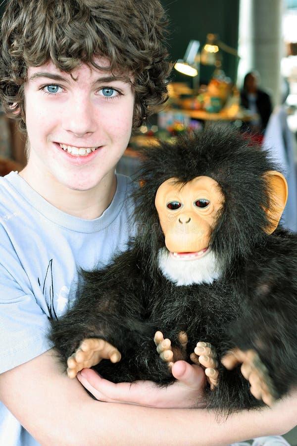 Monkey boy stock image