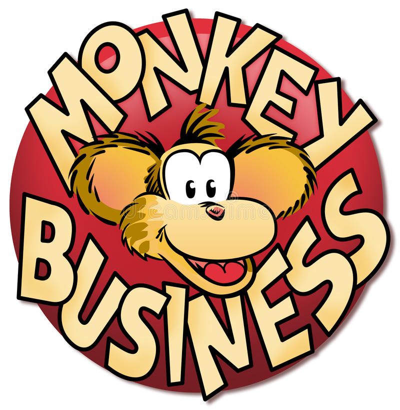 Monkey Business. A colorful monkey business icon royalty free illustration