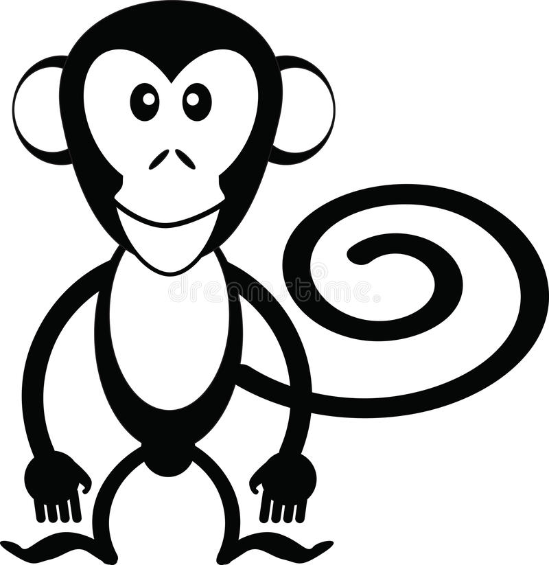 monkey cartoon stock vector illustration of face fruit 61472750 rh dreamstime com realistic monkey clip art black and white monkey black white clipart