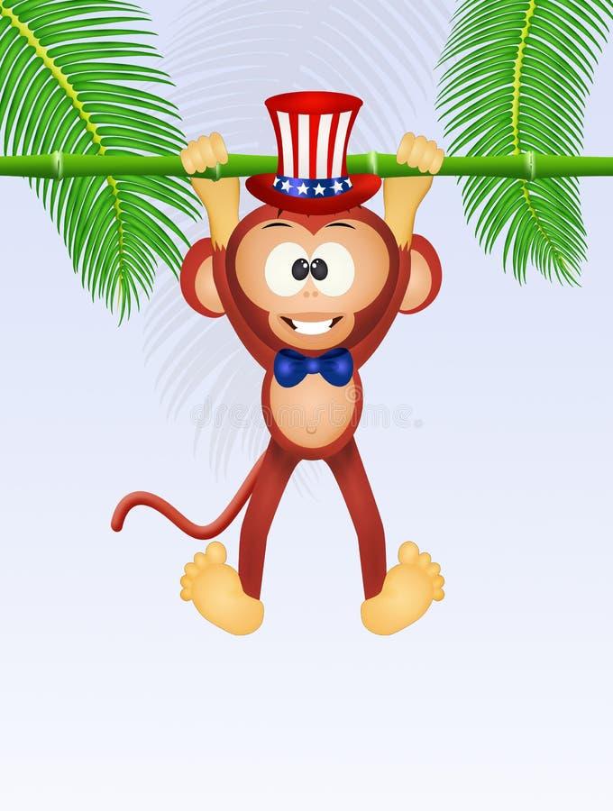Free Monkey Celebrate Independance Day Royalty Free Stock Photo - 91674615