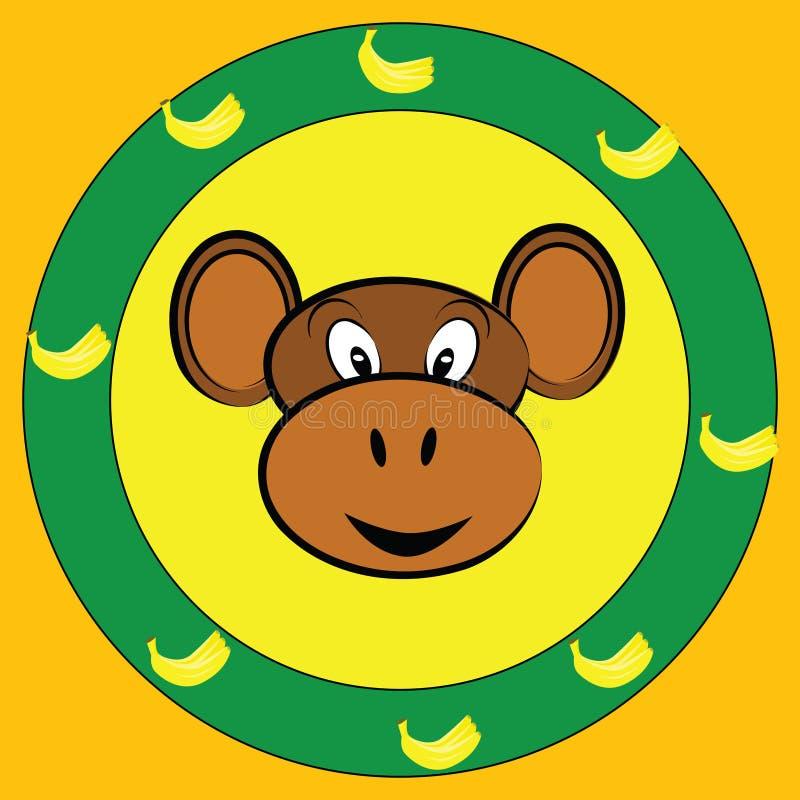 Monkey face royalty free illustration