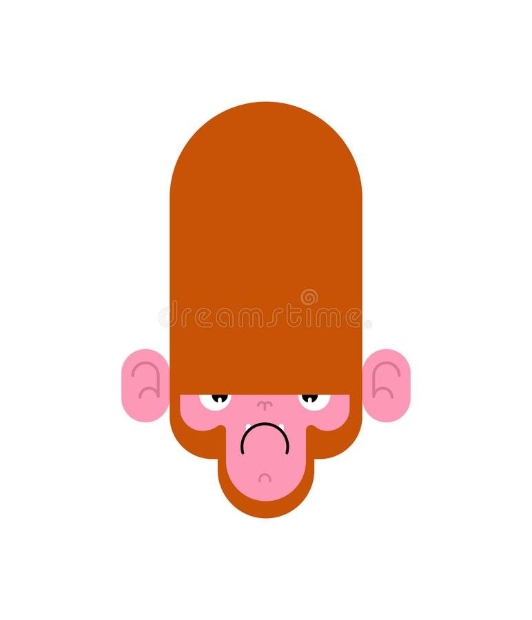 Monkey face angry isolated. Gorilla head. Vector illustration vector illustration