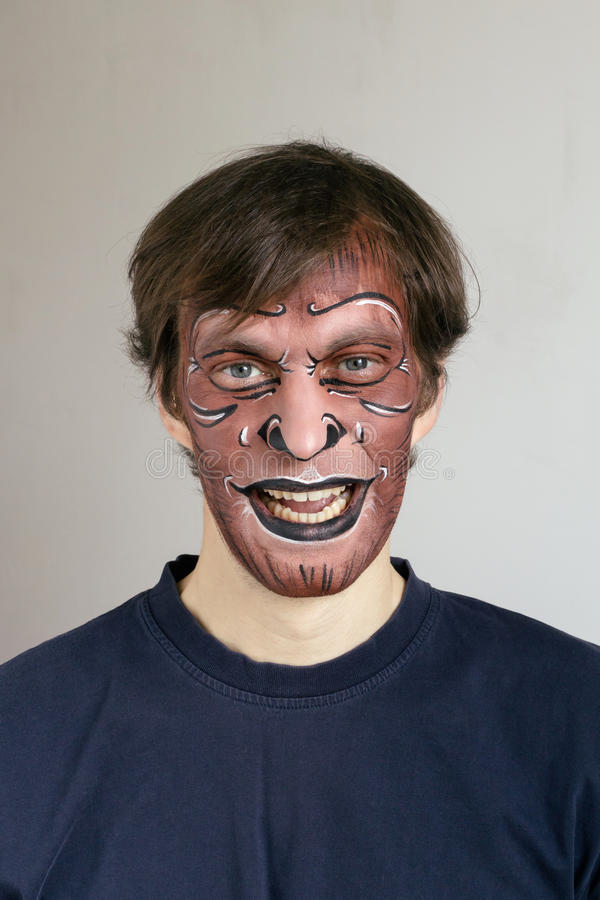 Monkey face painting stock images
