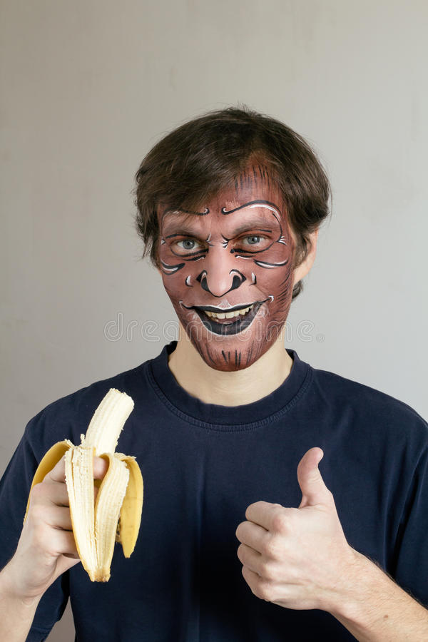 Monkey face painting royalty free stock images