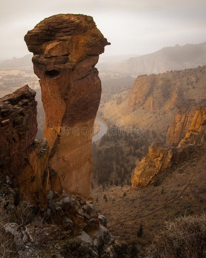 Free Monkey Face Smith Rock State Park In Oregon Stock Photography - 212348412