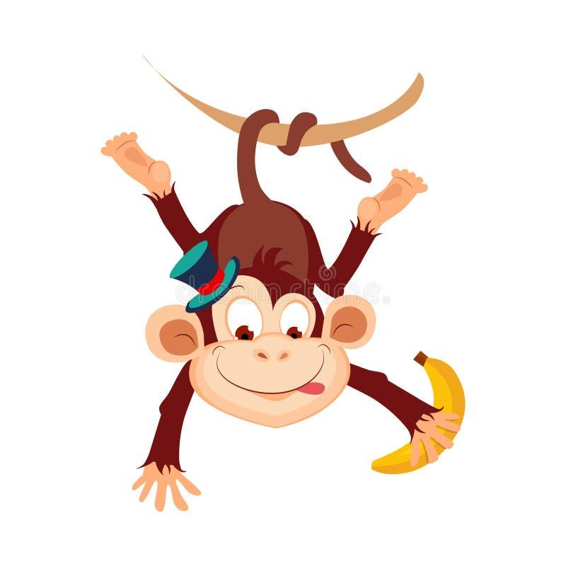 Monkey. Funny Alphabet, Animal Vector Illustration. Monkey. Funny Alphabet, Colourful Animal Vector Illustration royalty free illustration
