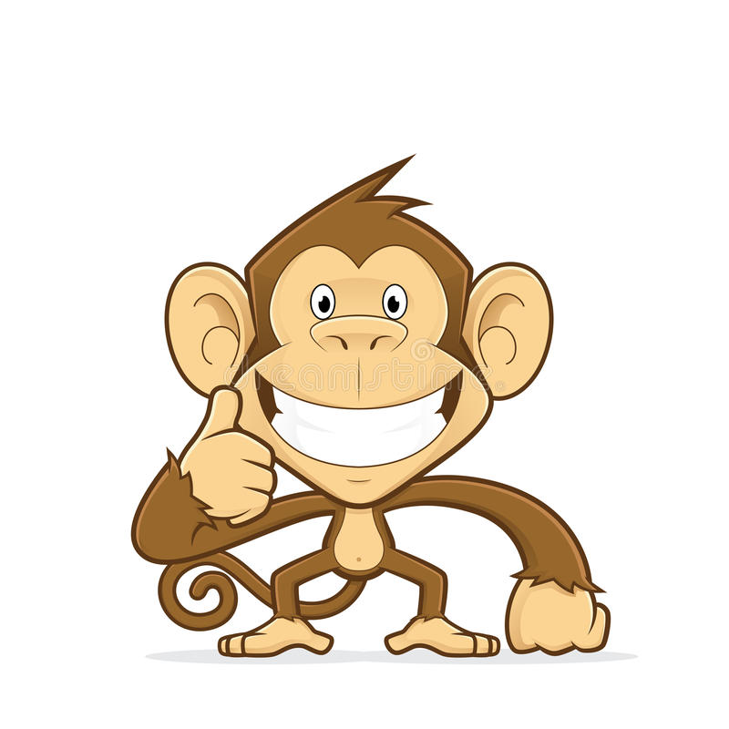 Monkey giving thumbs up stock vector. Illustration of ...