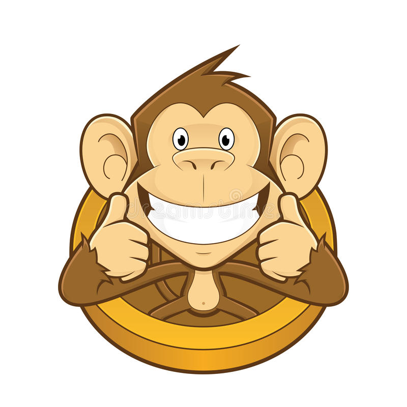 monkey giving two thumbs up stock vector illustration of mascot rh dreamstime com Facebook Thumbs Up Clip Art two thumbs up clipart free