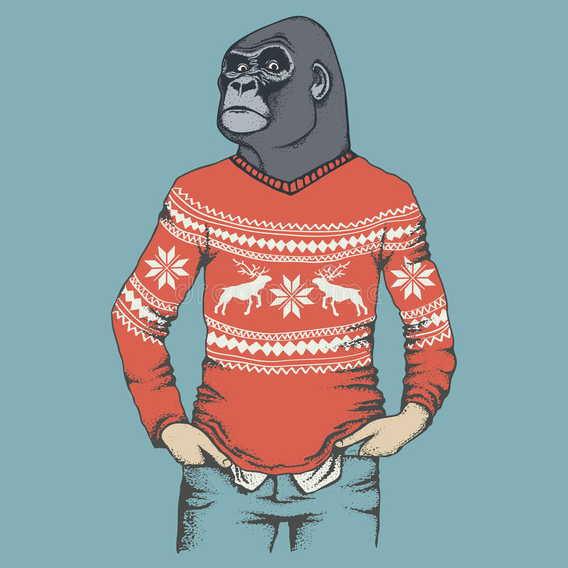 Monkey gorilla vector illustration vector illustration