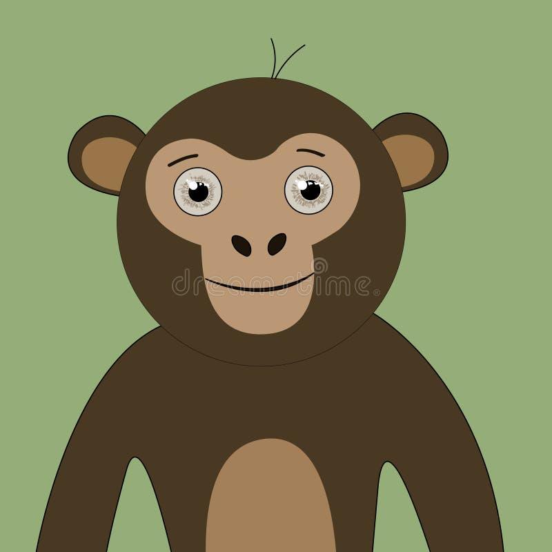 Monkey gráficos bonitos dos personagens de banda desenhada bonitos dos gráficos do t-shirt para crianças ilustração stock