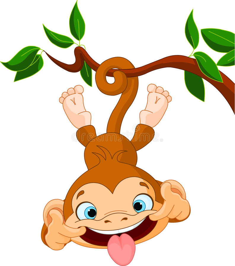 Monkey hamming vector illustration