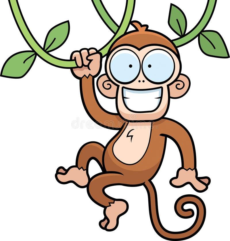 Download Monkey Hanging stock vector. Image of illustration, smiling - 15912174