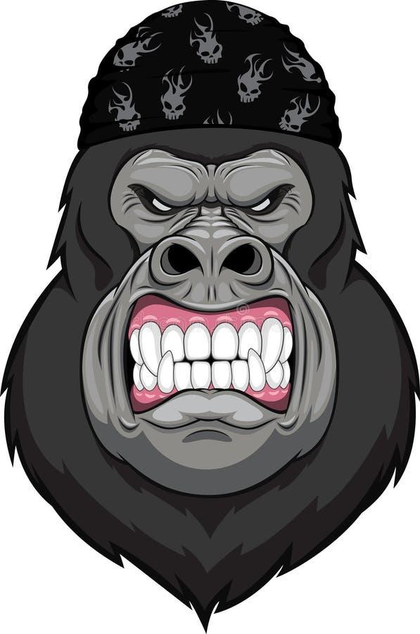 Monkey head mascot. Vector illustration:monkey head mascot stock illustration