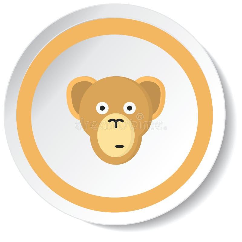 Monkey icon. Monkey Female Heels Stylish Footwear stock images