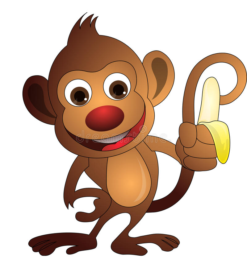 Free Monkey, Illustration Royalty Free Stock Images - 25966879