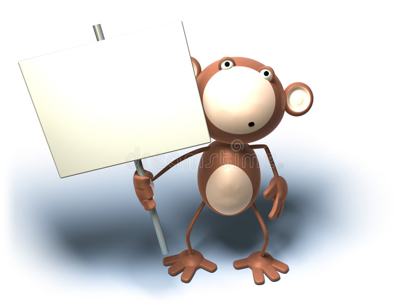 Monkey : insert your text vector illustration