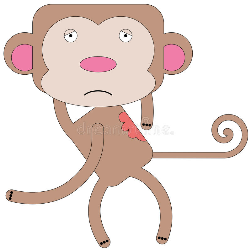 Free Monkey Itch Royalty Free Stock Images - 34155289