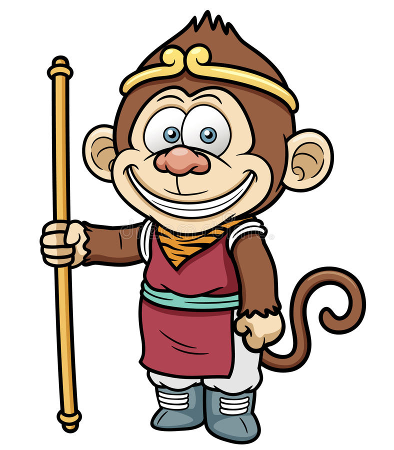 Monkey king stock vector. Image of graphic, illustration ...