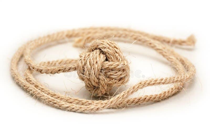 Monkey le noeud d'â de poing de la corde 1 de chanvre photos stock