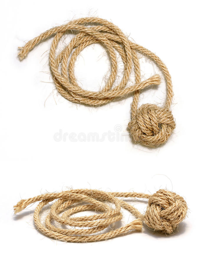 Monkey le noeud d'â de poing de la corde 2 de jute photo stock