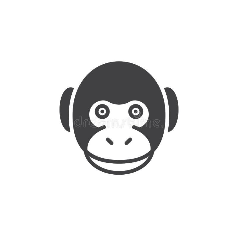 Monkey le vecteur principal d'icône, signe plat rempli illustration stock