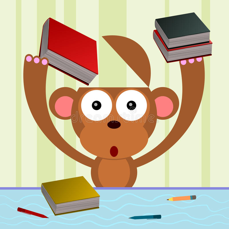 Download Monkey learns stock illustration. Image of concept, learning - 32651360