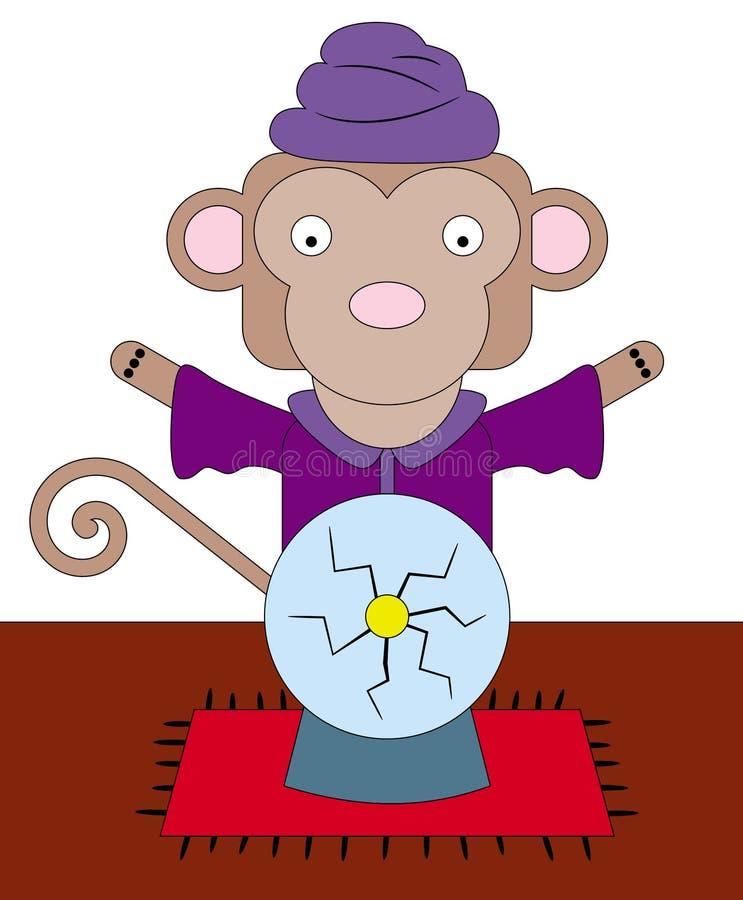 Monkey o caixa de fortuna ilustração do vetor