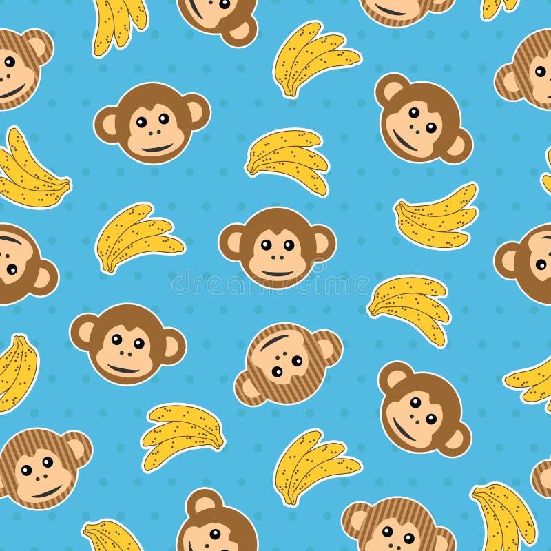 Monkey pattern seamless