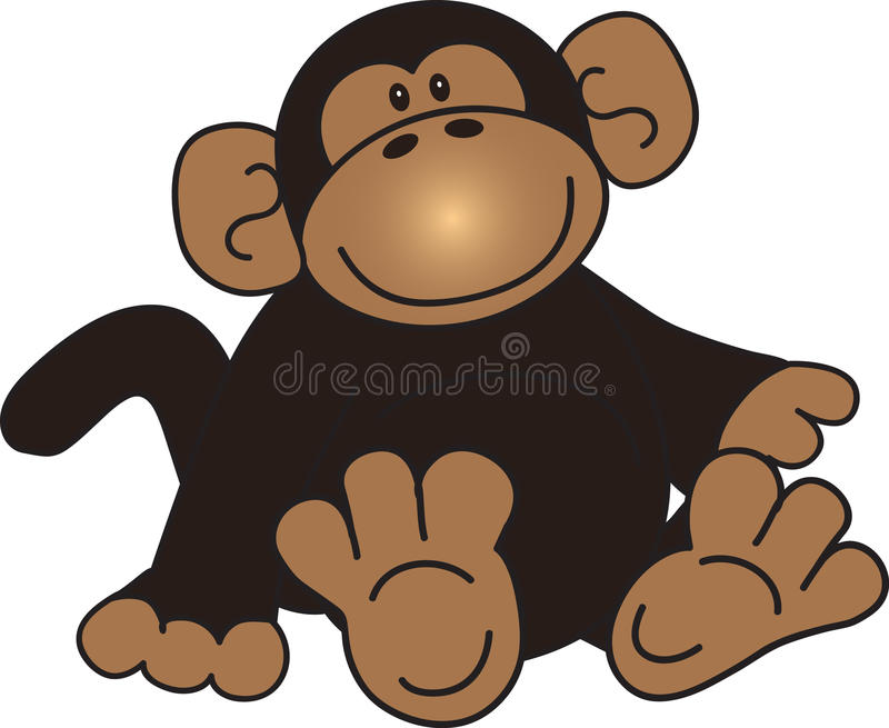 Monkey sitting royalty free illustration