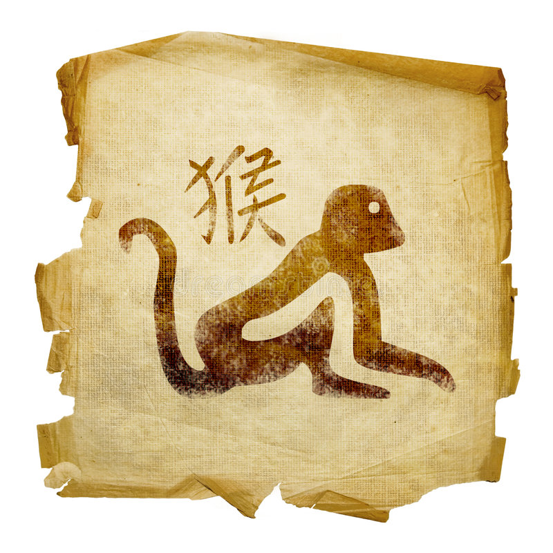 Monkey Zodiac icon royalty free stock image