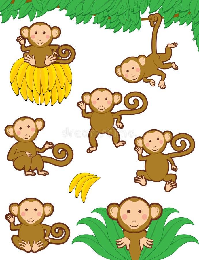 Monkeying autour illustration de vecteur