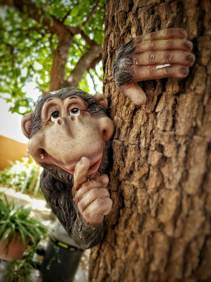 Monkeying rond royalty-vrije stock afbeeldingen