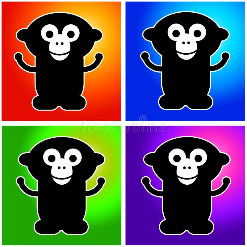 Download Monkeys stock illustration. Illustration of monkee, icons - 23158918