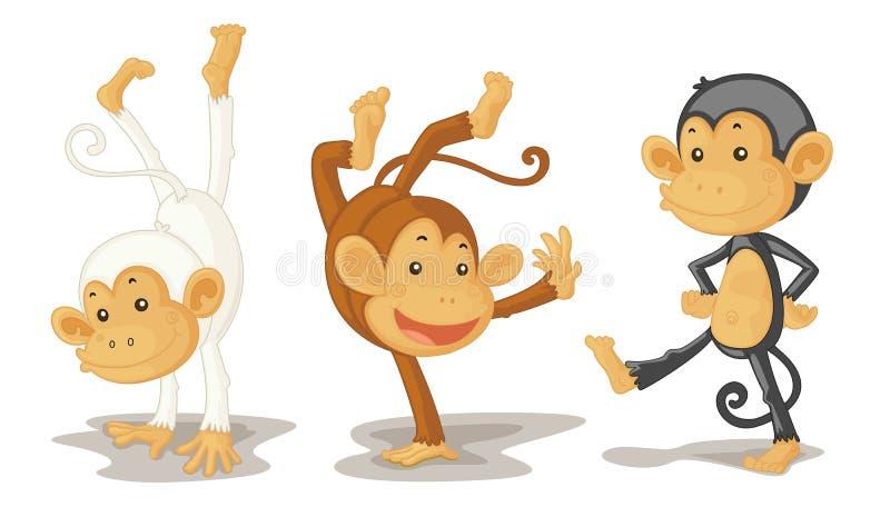 Download Monkeys stock illustration. Image of monkeys, illustration - 8877855