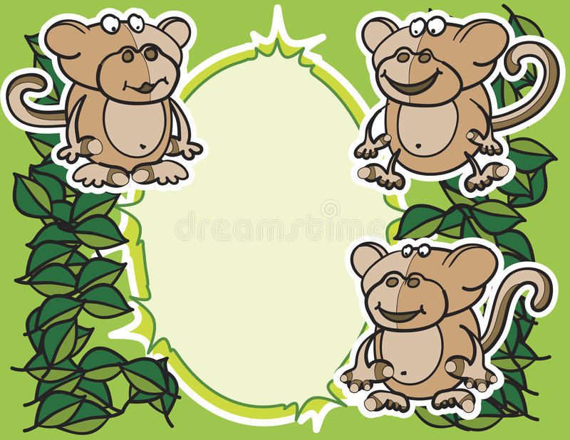 Monkeys Background Royalty Free Stock Images