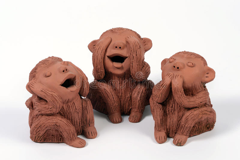 3 monkeys stock photo