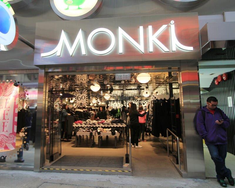 Monki shop in hong kong stock photos