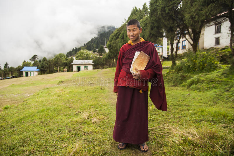 monks arkivfoto