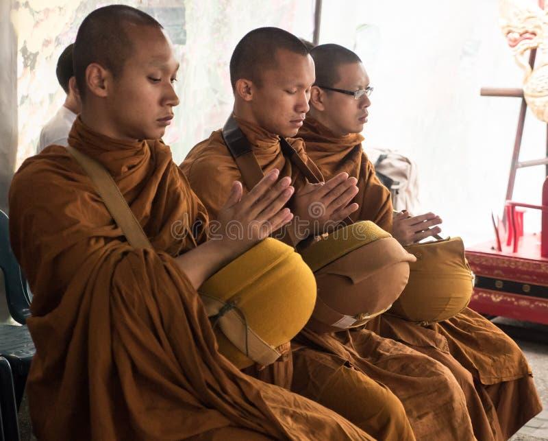 Monks Alms Ceremony, Thailand royalty free stock photo