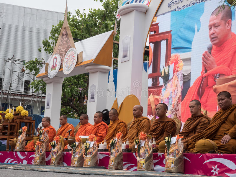 Monks Alms Ceremony, Thailand stock photos