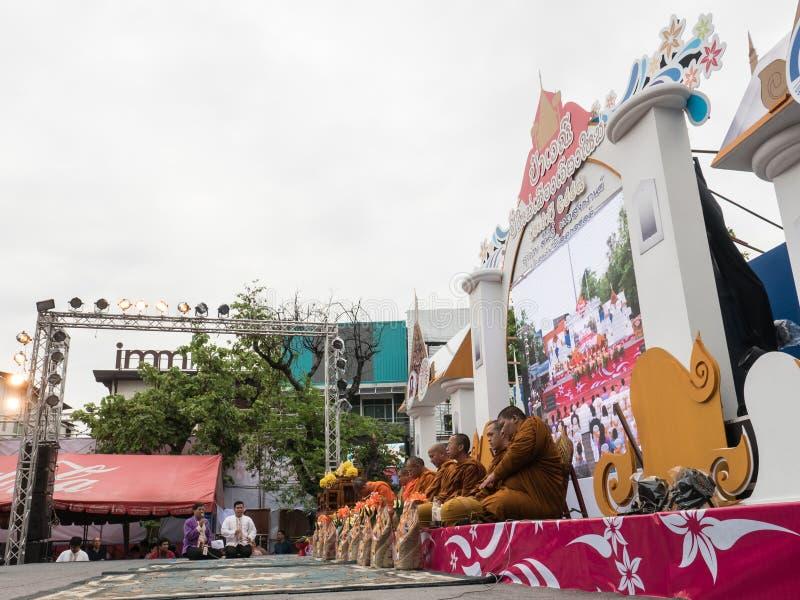 Monks Alms Ceremony, Thailand stock photography